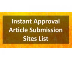 Free Instant Approval Article Submission Sites List 2019