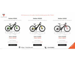 Best Electric Bicycles - 75 Kms range, EMI Options‎ |Touche