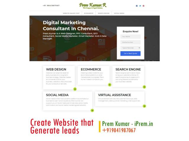 Create a responsive website and generate new customers for your business - 1/1