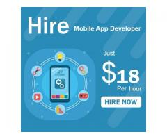 Hire Mobile App Developer Just $18 Hour