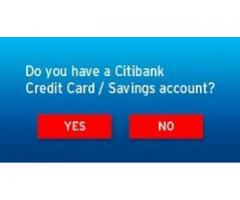 Do you have a citi bank credit card and apply for it