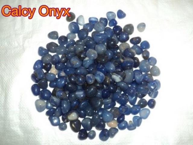 BLUE CALACY ONYX STONES AND PEBBLES - 1/1