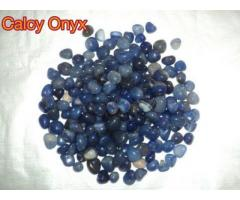 BLUE CALACY ONYX STONES AND PEBBLES