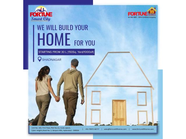 Open Plots for sale in Shadnagar| Fortune99Homes - 1/1